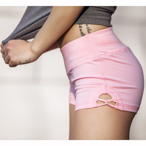 High-Waist Cross Yoga Shorts