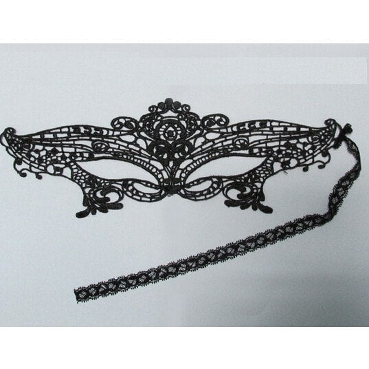 Black Sexy Lady Lace Mask Masquerade Party Style - Novelty Force