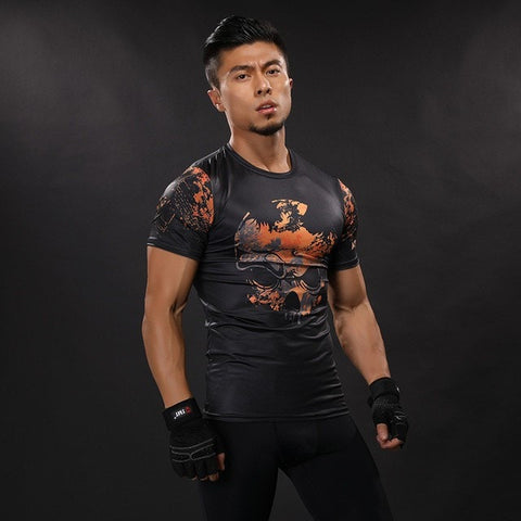 Red Skull Compression Shirt
