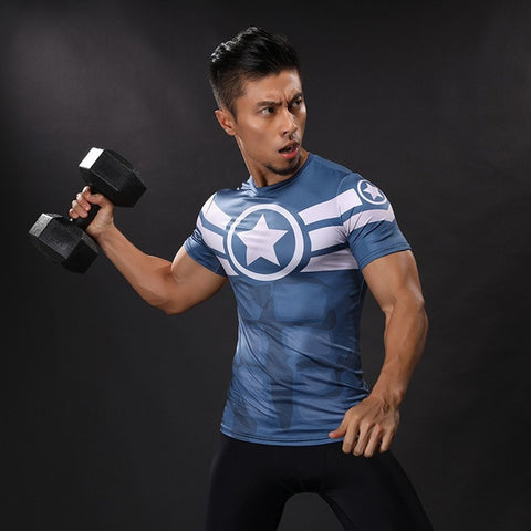 Big Star Captain America Compression Shirt
