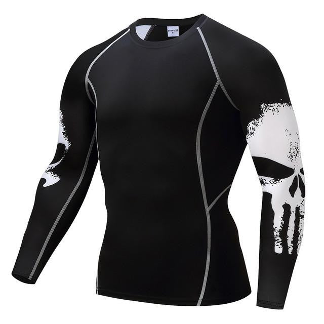 under armour punisher. punisher long sleeve compression shirt (skulls on side) under armour