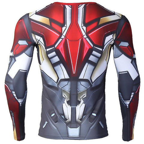 Iron Man Mark XLVII Long Sleeve Compression Shirt