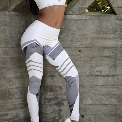 High Waist Geometric Leggings - magilook deep cleansing masks