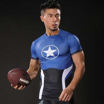 Captain America Compression Shirt (Blue Top) - magilook deep cleansing masks