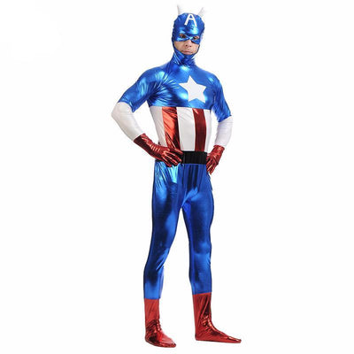 Metallic Capt. America Costume - magilook deep cleansing masks