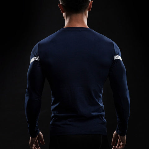 Captain America Star Long Sleeve Compression Shirt - Novelty Force