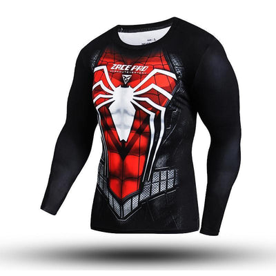 Metallic Spiderman Long Sleeve Compression Shirt - magilook deep cleansing masks