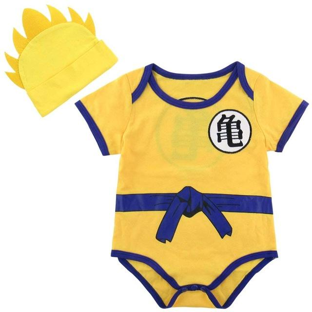 Baby Goku Bodysuit With Yellow Top