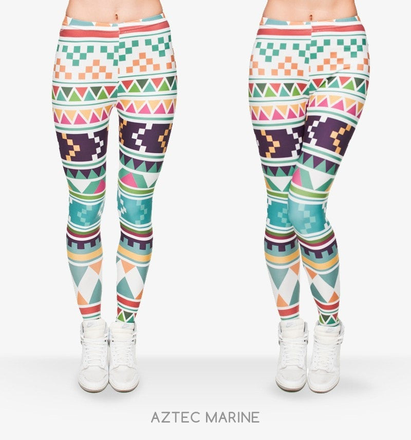 Aztec Stretch Leggings