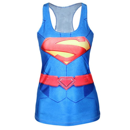 Super Woman Animated Tank Top