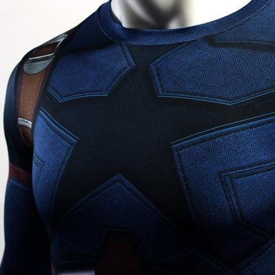 Captain America Infinity War Long Sleeve Compression Shirt