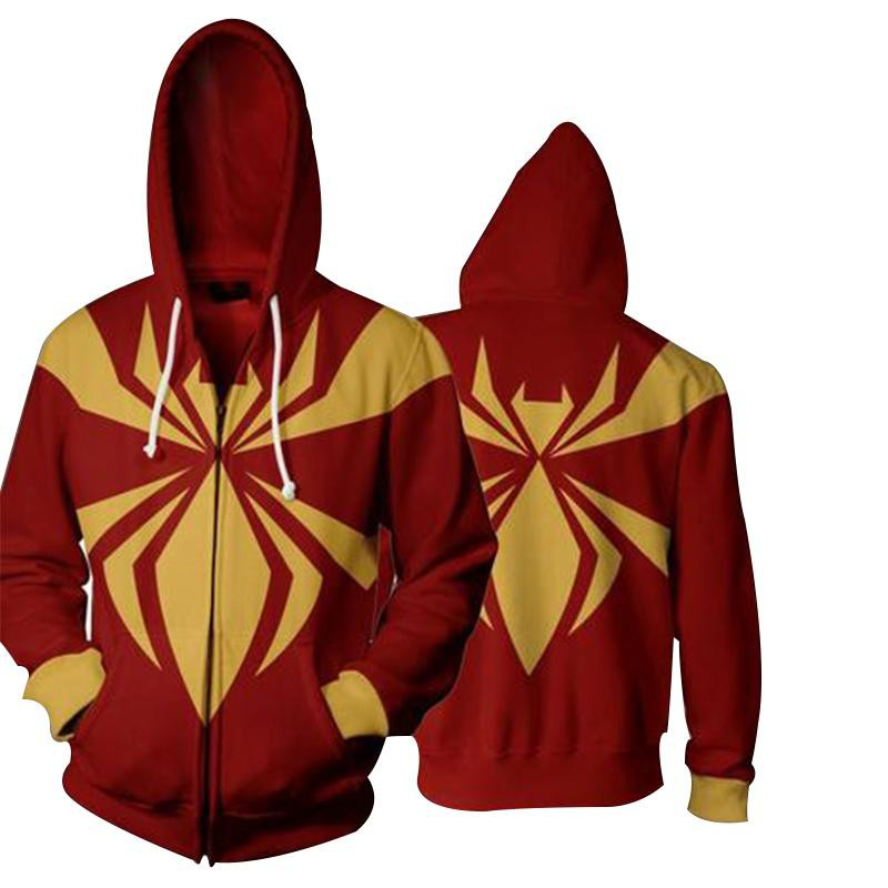 Red/Yellow Spiderman Hoodie