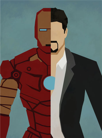 Iron Man Alter Ego Oil Canvas - Novelty Force