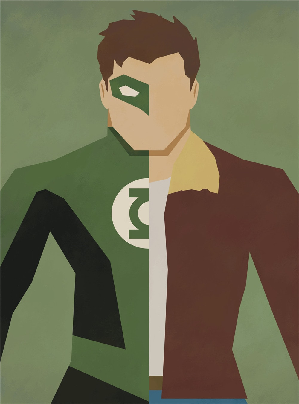 Green Lantern Alter Ego Oil Canvas
