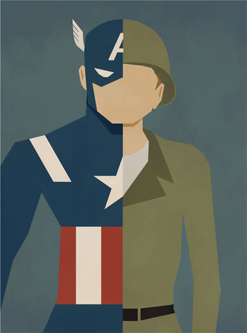 Captain America Alter Ego Oil Canvas - Novelty Force