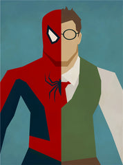 Spiderman Alter Ego Oil Canvas