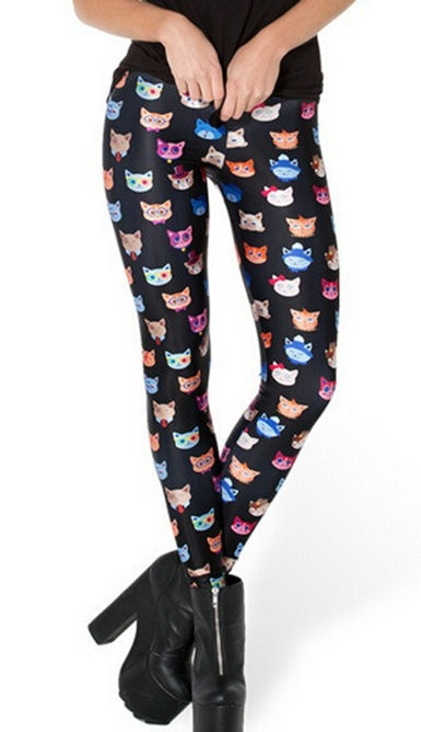 Cat Face Collection Fitness Leggings - magilook deep cleansing masks