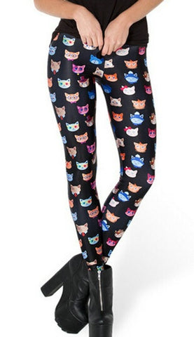 Cat Face Collection Fitness Leggings - Novelty Force