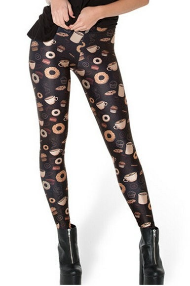 Breakfast Collection Fitness Leggings - Novelty Force