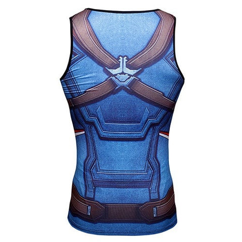 Captain America Compression Tank Top - Novelty Force