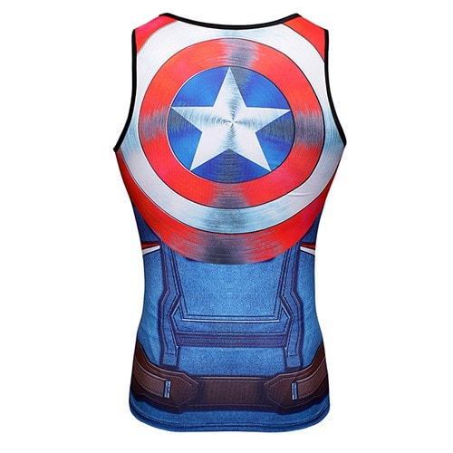 Captain America Shield Compression Tank Top - Novelty Force