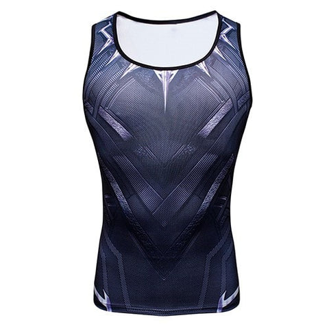 Black Panther Compression Tank Top - Novelty Force