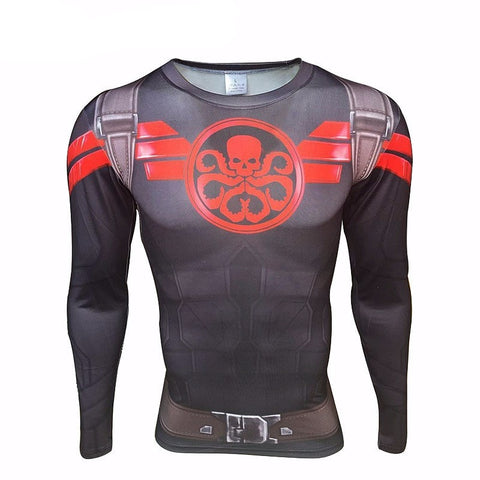 Captain Hydra Long Sleeve Compression Shirt