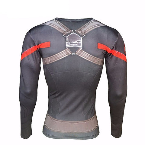 Captain Hydra Long Sleeve Compression Shirt - Novelty Force