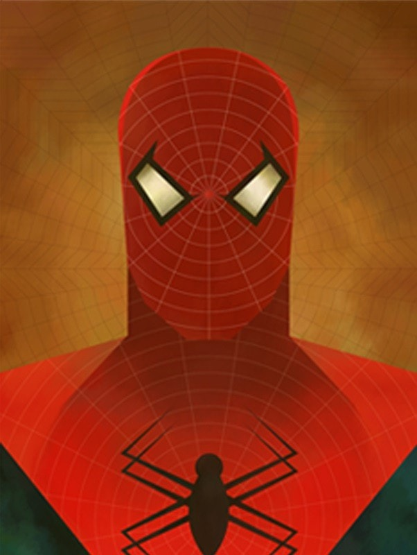 Spiderman Abstract Series Canvas