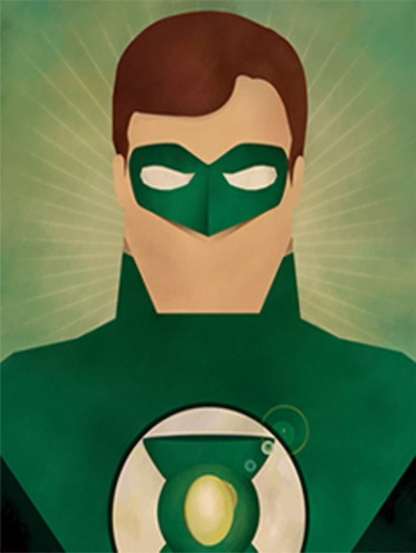 Green Lantern Abstract Series Canvas - magilook deep cleansing masks