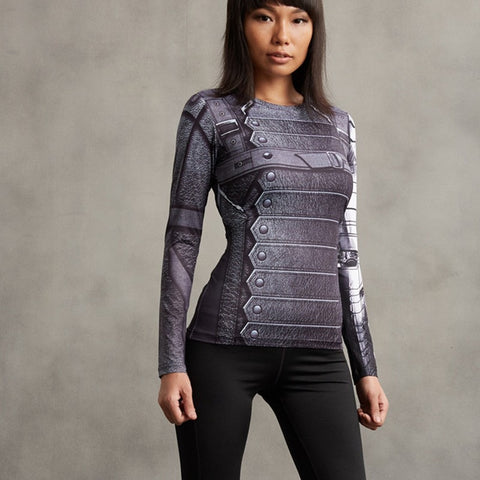 Ladies Winter Soldier Long Sleeve Compression Shirt