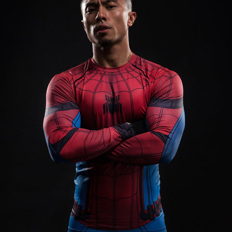 Spiderman Long Sleeve Compression Shirt