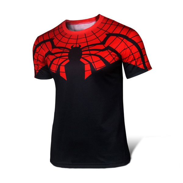 Red/Black Spiderman Compression Shirt