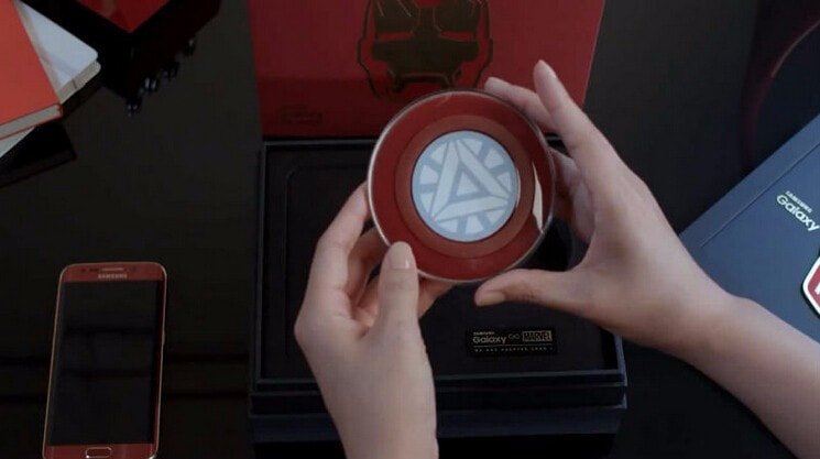 Iron Man Qi Wireless Phone Charger