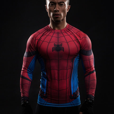 Spiderman Long Sleeve Compression Shirt - Novelty Force