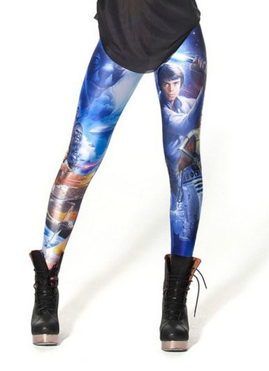 Star Wars Print Leggings - Novelty Force