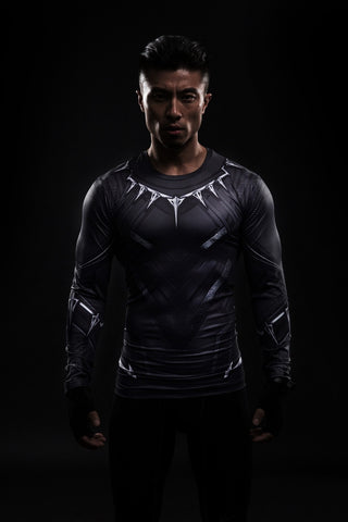 Black Panther Long Sleeve Compression Shirt - Novelty Force