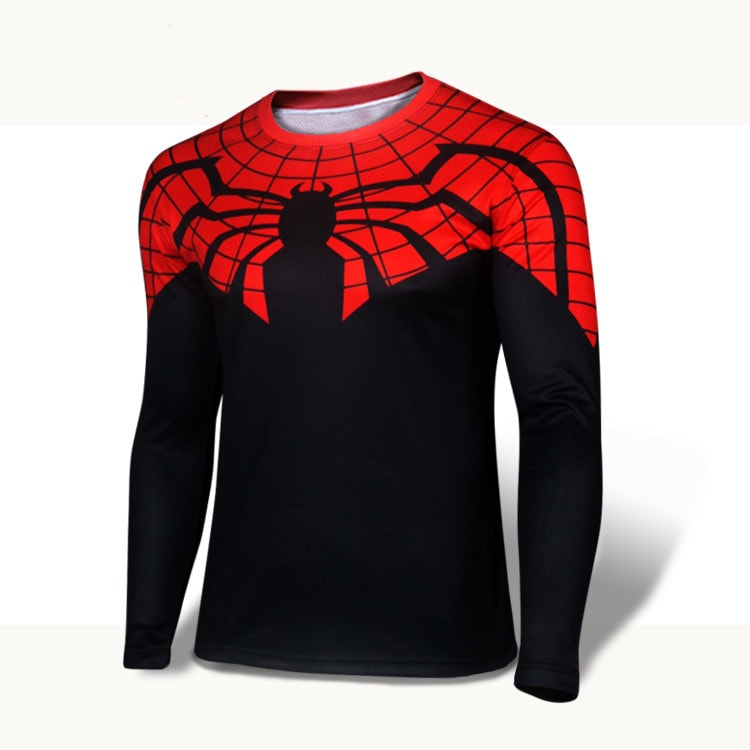 Red/Black Long Sleeve Compression Shirt - Novelty Force