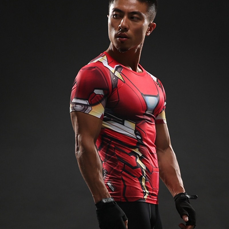 Iron Man Suit Compression Shirt - Novelty Force
