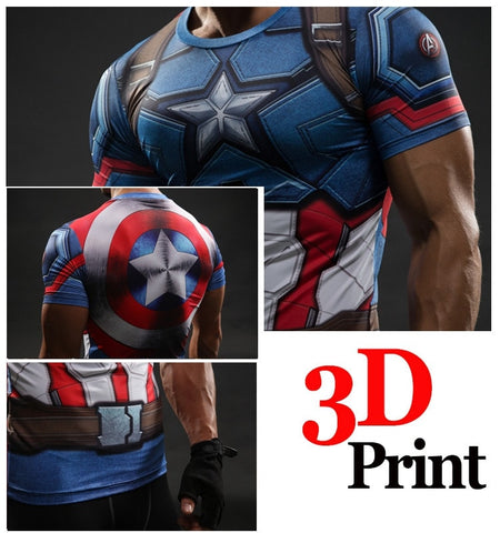 Captain America Shield Compression Shirt - Novelty Force
