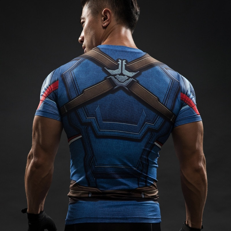 Captain America Compression Shirt - Novelty Force