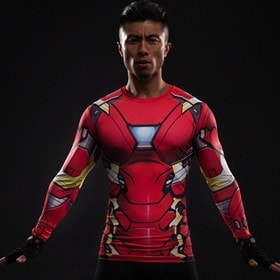 Iron Man Suit Long Sleeve Compression Shirt - magilook deep cleansing masks