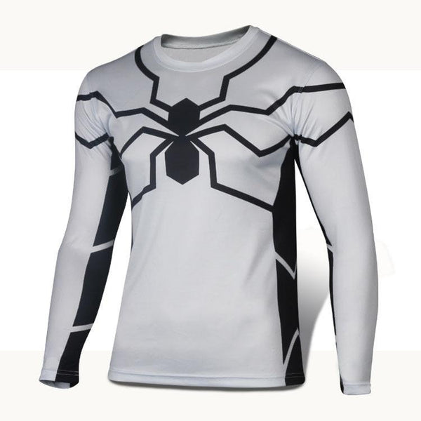 Future Spiderman Long Sleeve Compression Shirt