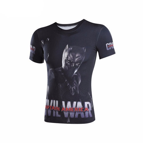 Black Panther 3D Print Compression Shirt