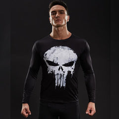 Image of Punisher Long Sleeve Compression Shirt