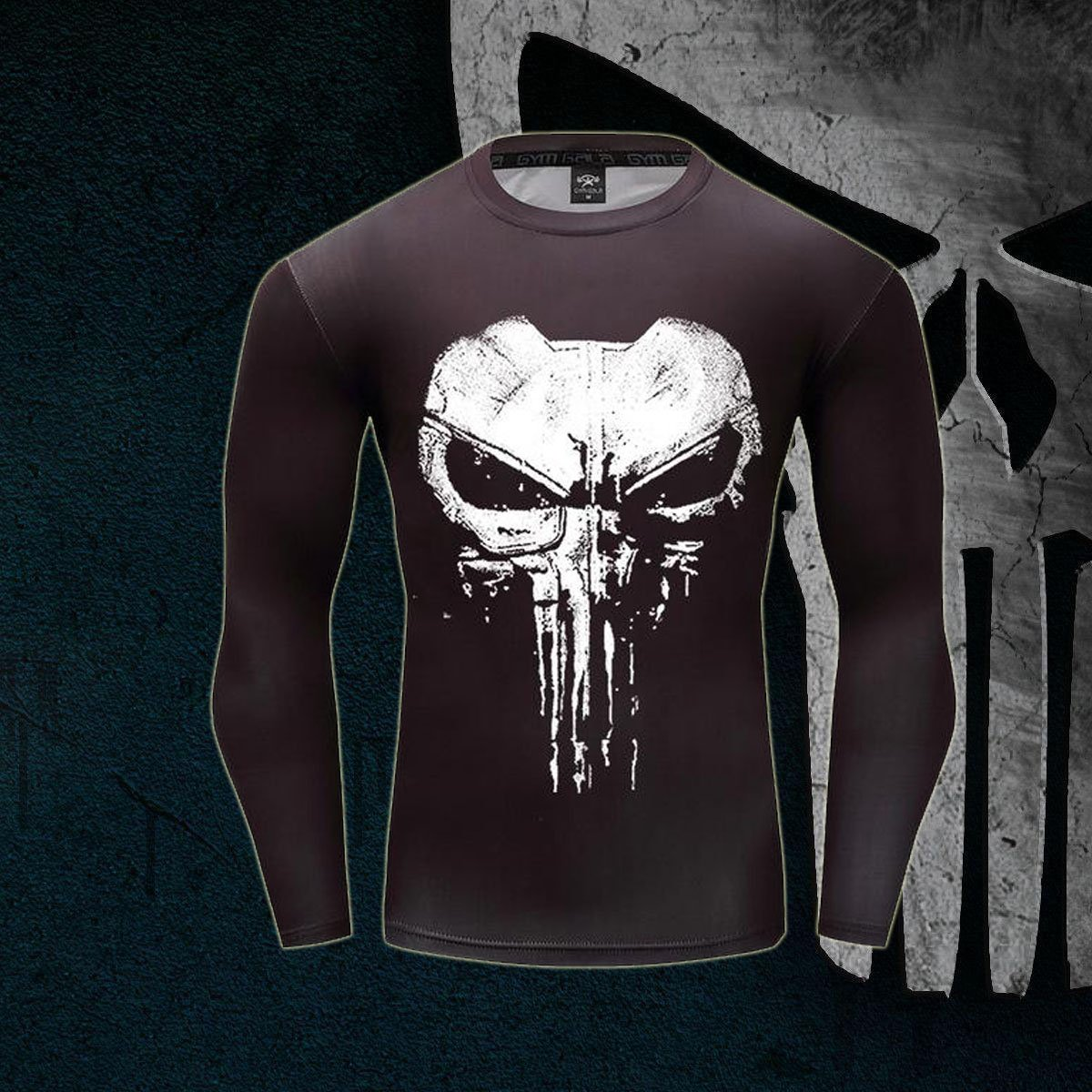 Punisher TV Series Long Sleeve Compression Shirt