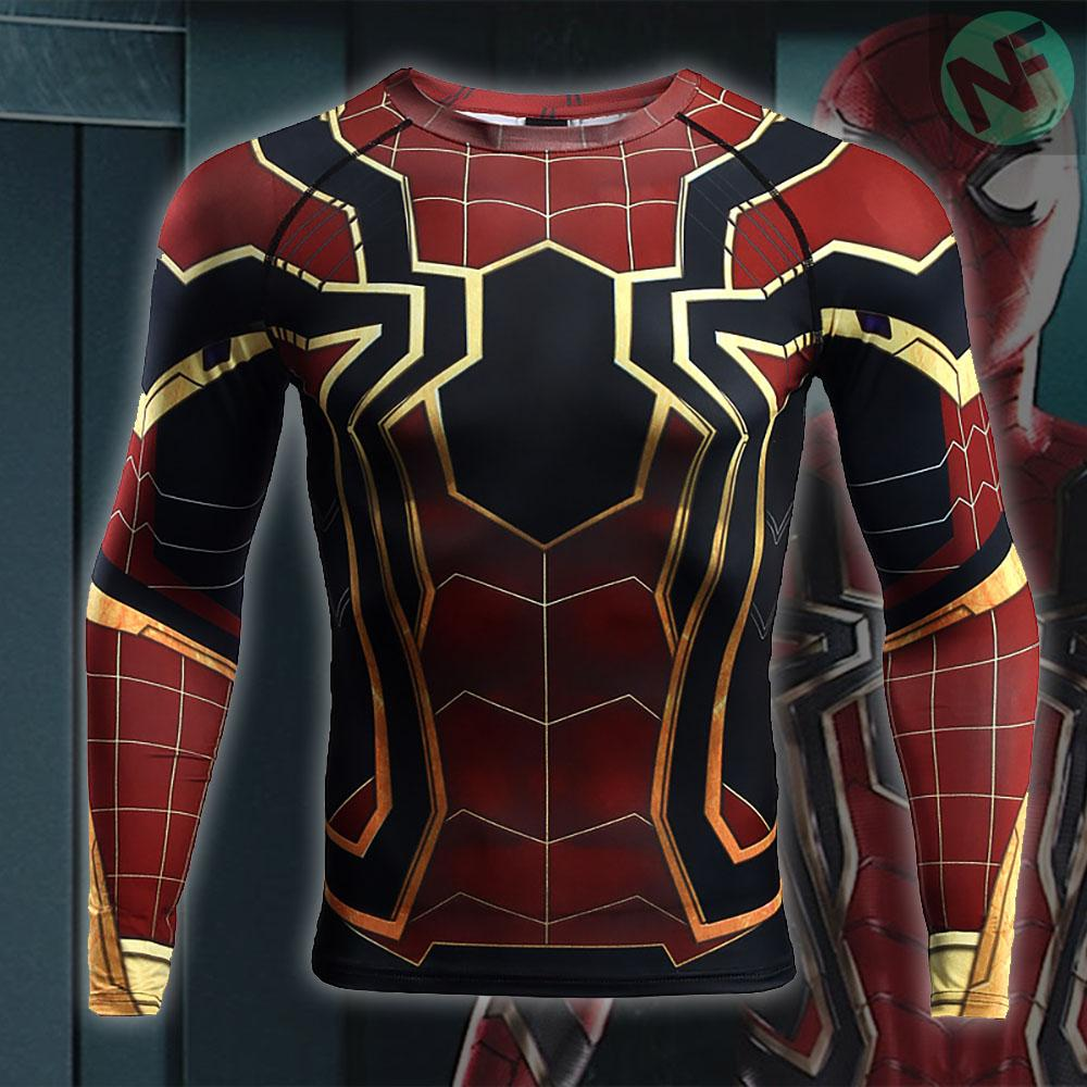 Spiderman Infinity War Long Sleeve Compression Shirt