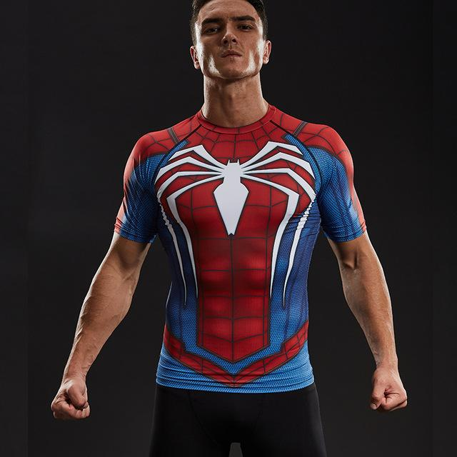 PS4 Spiderman Compression Shirt