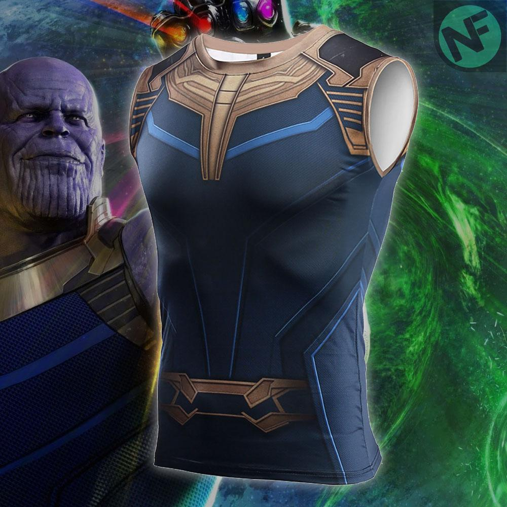 Thanos Infinity War Compression Tank Top