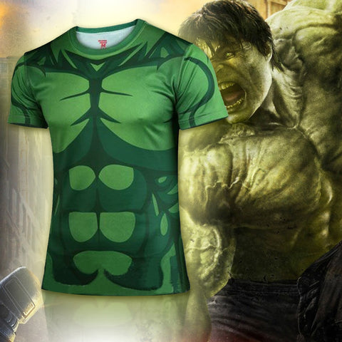 Animated Hulk Compression Shirt - Novelty Force